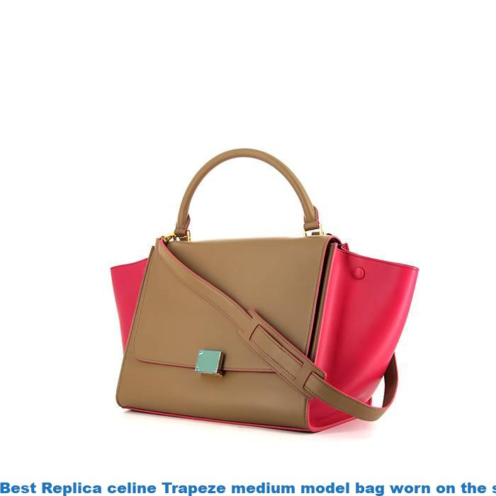 78d5f2656 Best Replica celine Trapeze medium model bag worn on the shoulder or  carried in the hand in beige and pink leather