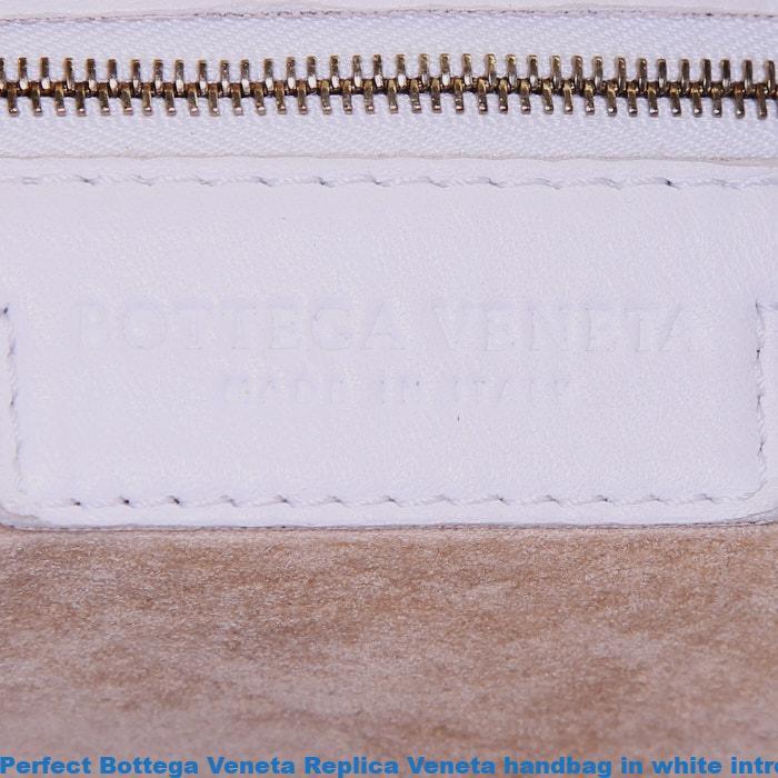 Perfect Bottega Veneta Replica Veneta handbag in white intrecciato leather 39d65a3618be7