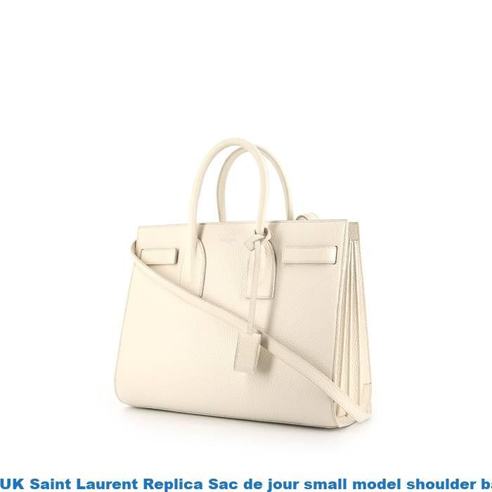 2a087c7b223 UK Saint Laurent Replica Sac de jour small model shoulder bag in white grained  leather