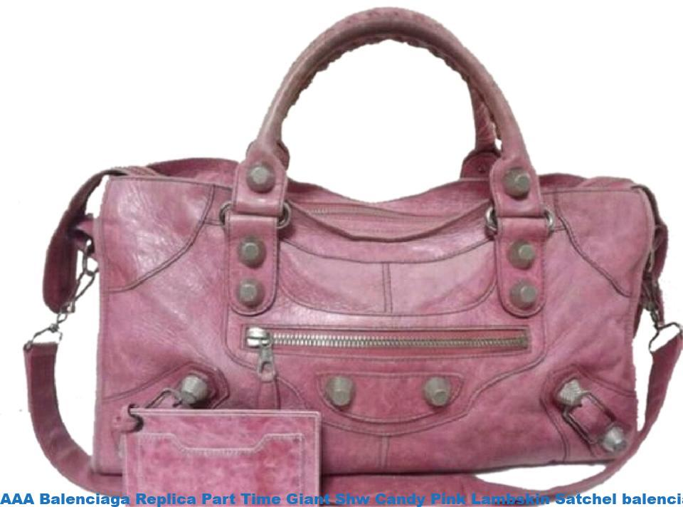 1f5a7172118b AAA Balenciaga Replica Part Time Giant Shw Candy Pink Lambskin Satchel balenciaga  bag price