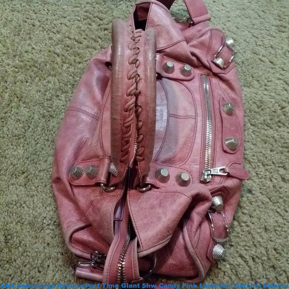 2b26b4dd8 AAA Balenciaga Replica Part Time Giant Shw Candy Pink Lambskin Satchel  balenciaga bag price