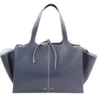 45335a469a6a ... Best Céline 1 1 Mirror Replica Medium Tri Fold Navy Leather Tote luxury 7  star replica handbags ...