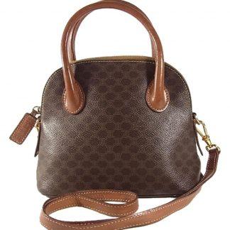 59049cbaaca6 Cheap Céline Imitation Macadam Pattern Vintage 2way Shoulder Hand Brown  Leather Cross Body Bag celine bag price ...