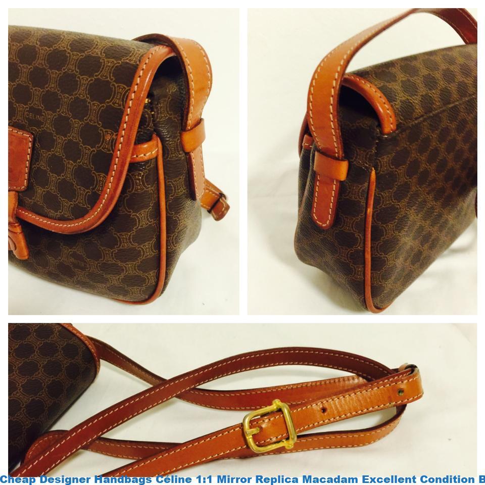6f3bb823262c2e Cheap Designer Handbags Céline 1:1 Mirror Replica Macadam Excellent  Condition Brown Shoulder Bag celine replica frame