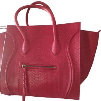 397940847ef2 ... Designer Céline Designer Replica Cabas Phantom Medium Fuschia Python  Skin Leather Satchel celine nano ...