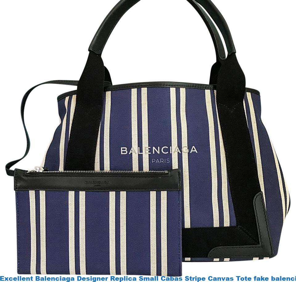 1bf52294368 Excellent Balenciaga Designer Replica Small Cabas Stripe Canvas Tote fake  balenciaga triple s