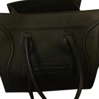 d3d3ebf0f76f You re viewing  High Quality Céline 1 1 Mirror Replica Luggage Luggage  Cabas Phantom Black Leather Satchel celine trio bag £1