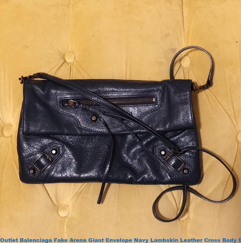 Outlet Balenciaga Fake Arena Giant Envelope Navy Lambskin Leather Cross  Body Bag balenciaga triangle bag 961771be9a58c