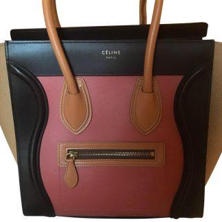 215efec046ab ... The Best Céline Mirror Luggage Mini Tricolor (Dark Purple Tan and Dark  Pink) Tote best replica handbags 2018 ...