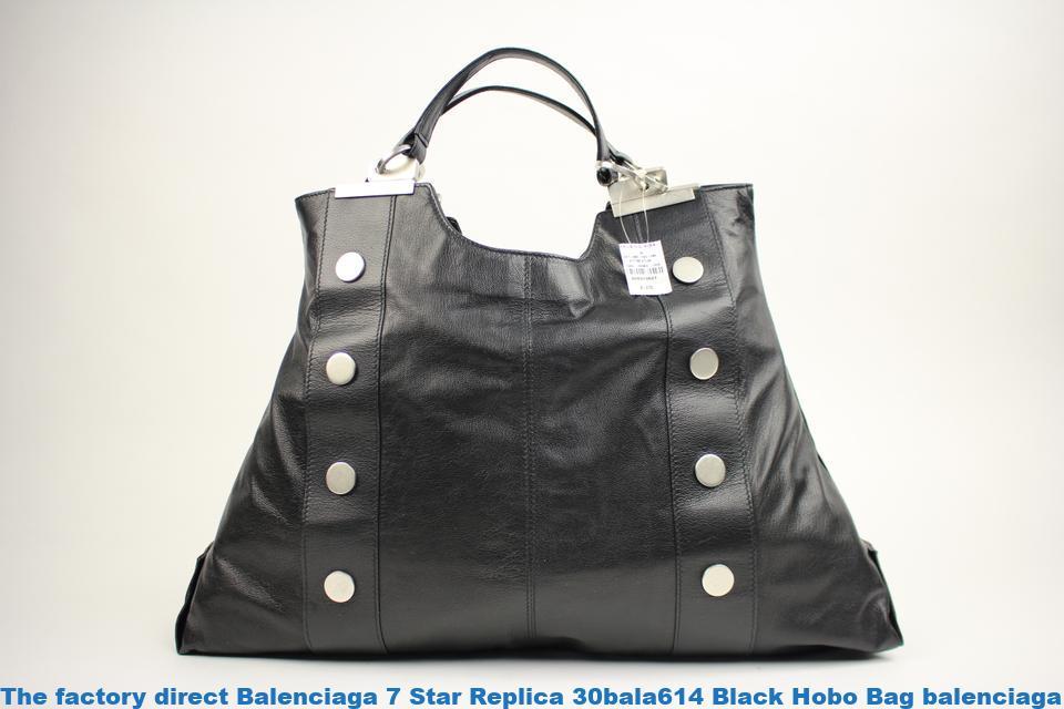 21e340b36a3 The factory direct Balenciaga 7 Star Replica 30bala614 Black Hobo Bag  balenciaga replica bags