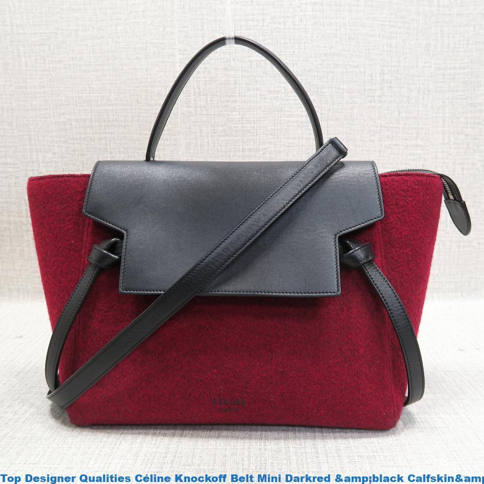 Top designer qualities c line knockoff belt mini darkred for Replica design