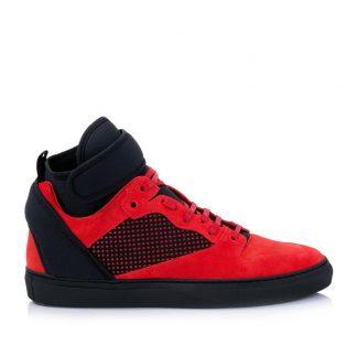 ... designer replica handbags £97.88  UK Balenciaga Fake Black Red Mens  Neoprene Strap Red Black High Top Sneakers Sneakers Size US balenciaga replica  bag ... 4aa9d9c9e4983