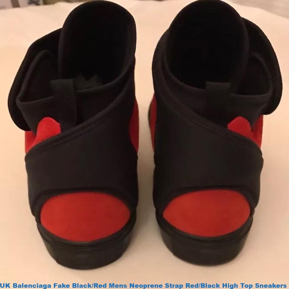 Wonderlijk UK Balenciaga Fake Black/Red Mens Neoprene Strap Red/Black High WC-66