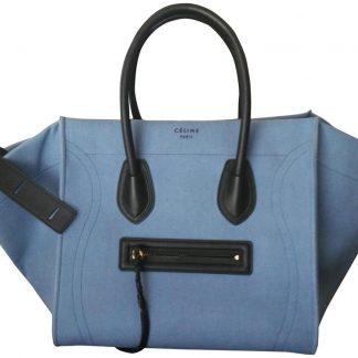 You re viewing  US Céline Replica Luggage Cabas Phantom Blue Linen Tote  celine bag sale £1 723c3aabe5c09