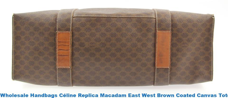 Wholesale Handbags Céline Replica Macadam East West Brown Coated Canvas  Tote high quality designer replica handbags wholesale 6984c4e0aa0be